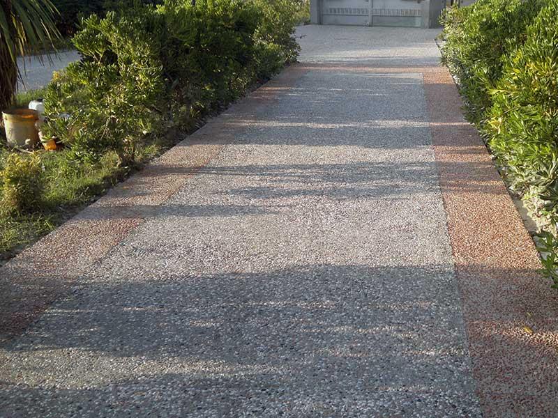 Pavimento italian wash beton cemento ad effetto sasso - Cemento colorato per esterno ...