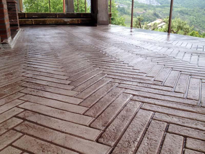 Laghetto Artificiale : Il pavimento stampato hardenerpan