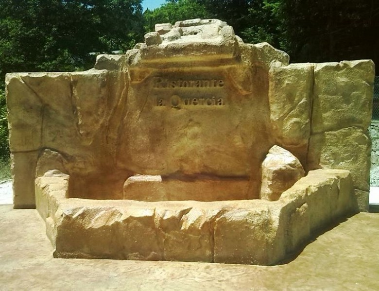 Rocce artificiali for Fontana artificiale