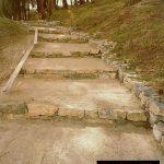 scalinata naturale  in terra stabilizzata ecostabilizer