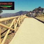 strada carrabile in terra stabilizzata ecostabilizer