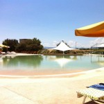 Solarium piscina aspetto sabbia