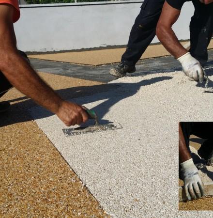 Il pavimento drenante in resina e granulati di marmo - Pavimento resina esterno ...