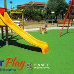 Pavimento antitrauma in gomma colata parco giochi -Campania