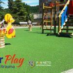 Pavimento parco giochi in gomma colata antitrauma
