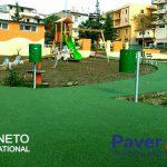 Pavimento in gomma colata  parco giochi -Calabria