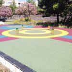 Pavimento antitrauma gomma colata -parco giochi in Calabria