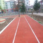 Pista di atletica con pavimento antitrauma  in Abruzzo
