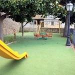 Pavimentazione area giochi in gomma colata