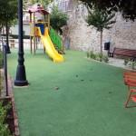 Pavimento gomma colata epdm vergine colore verde