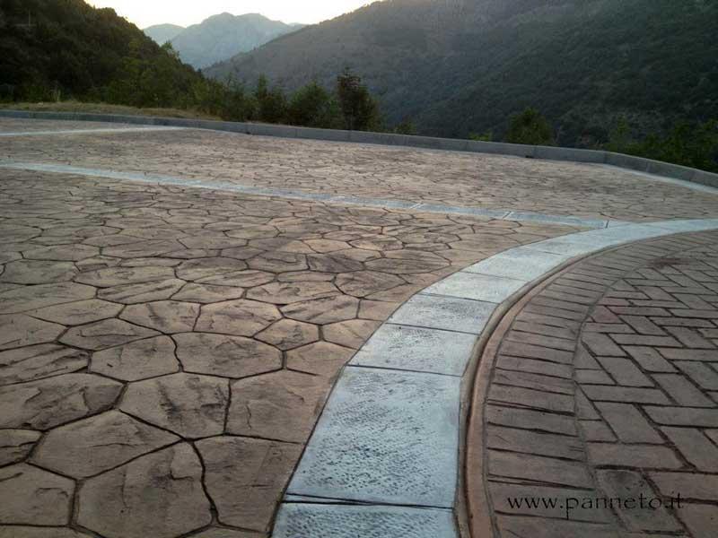 Calcestruzzo Stampato Sicilia : Il pavimento stampato hardenerpan