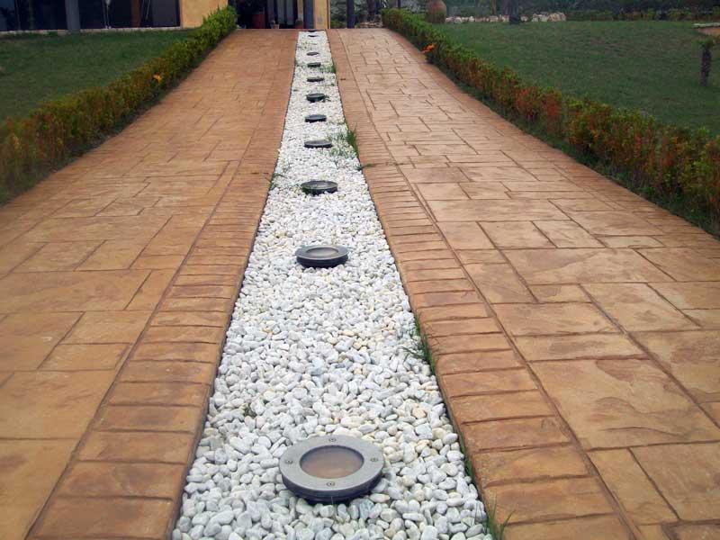 Pavimento Calcestruzzo Stampato : Il pavimento stampato hardenerpan