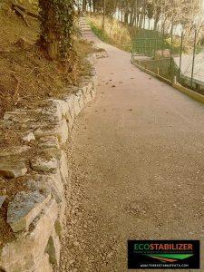 Ecostabilizer -terra stabilizzata in sito archeologico di Tiriolo