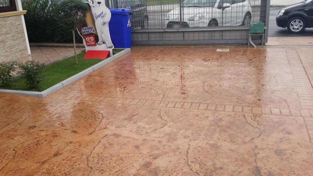 Pavimenti In Cemento Stampato : Pavimento basso spessore in cemento stampato