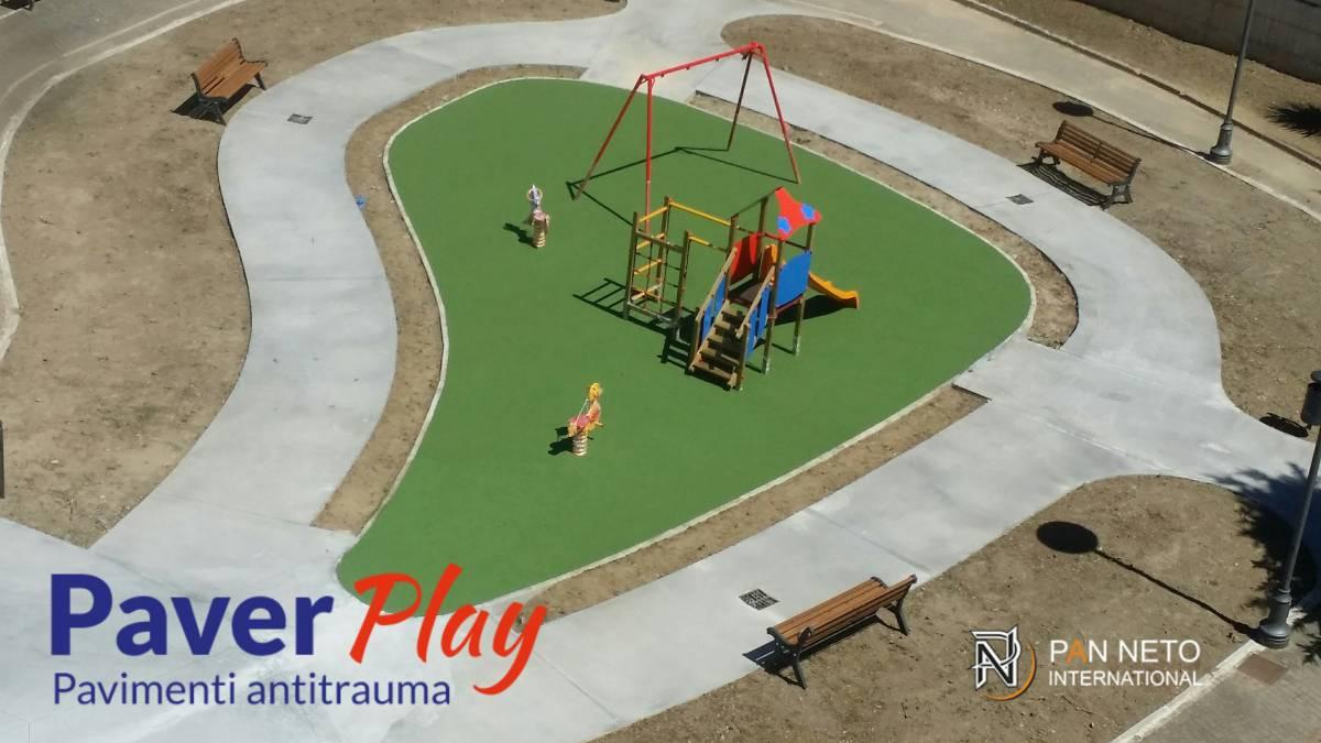 Pavimento Antitrauma In Gomma Colata Playground For Childrens