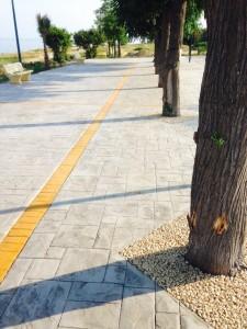 Pavimentazione lungomare in cemento stampato HARDENER PAN