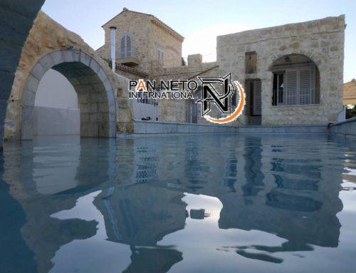 PAN NETO INTERNATIONAL ,L' AZIENDA ITALIANA CHE INCANTA ISRAELE CON LA PISCINA AD EFFETTO NATURALE MICROPOOL3D TX
